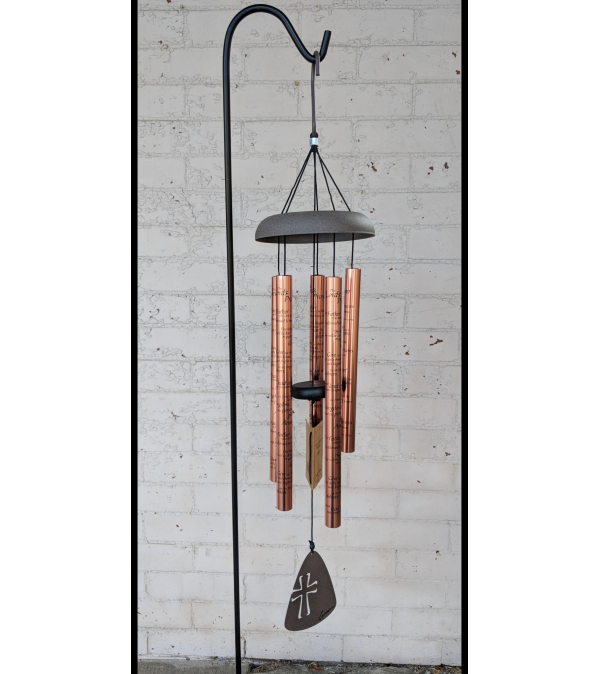 """30"""" The Lord's Prayer Wind Chime (Rose Gold)"""