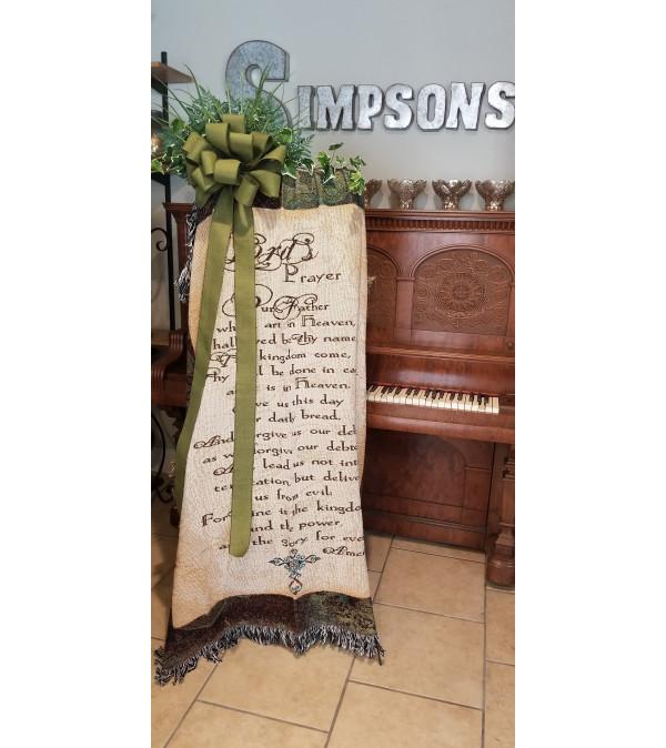 Virgin Mary Tapestry Throw
