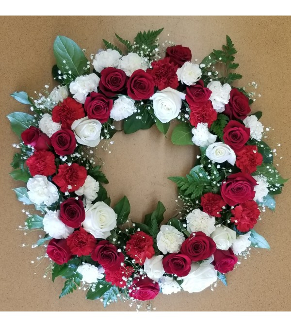 Red & White Elegance by Select Flowers