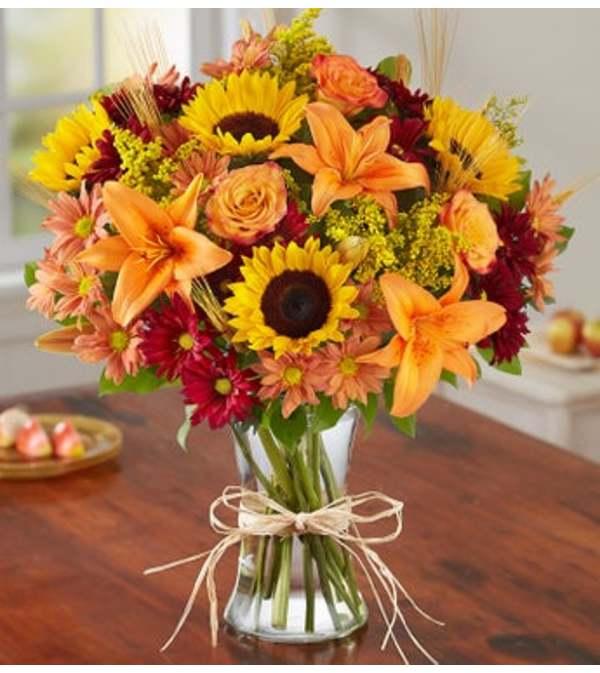 Fall Fields of Europe Vase