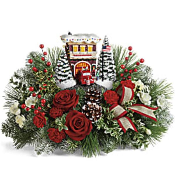 Teleflora Thomas Kincade Festive Fire Station Bouquet