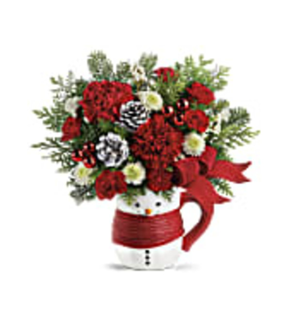 SEND A HUG-SNOWMAN MUG by Teleflora