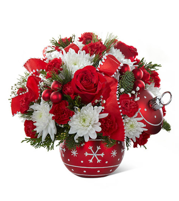 Snowflake Greeting Ornament Bouquet