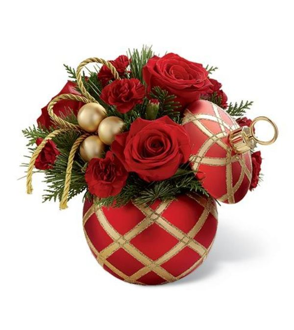 Holiday Cheer Ornament Bouquet