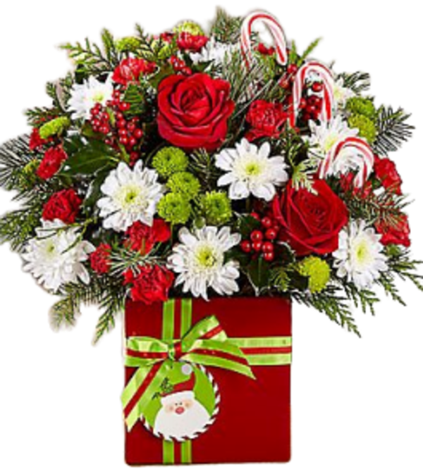 Santa's Here! Christmas Bouquet