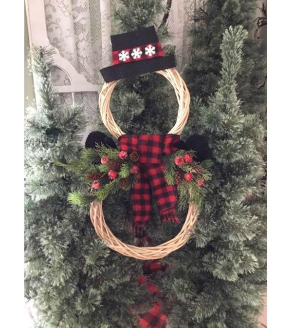 Snowman Wreath BL
