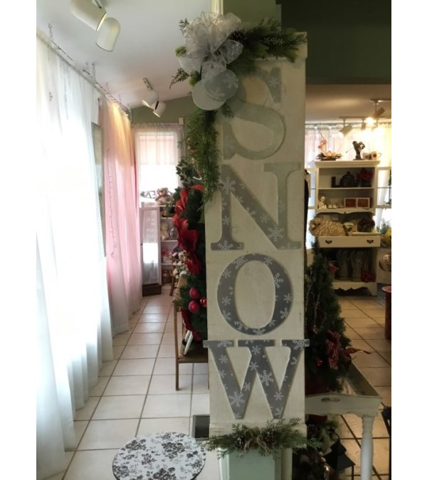 Wooden Snow Sign