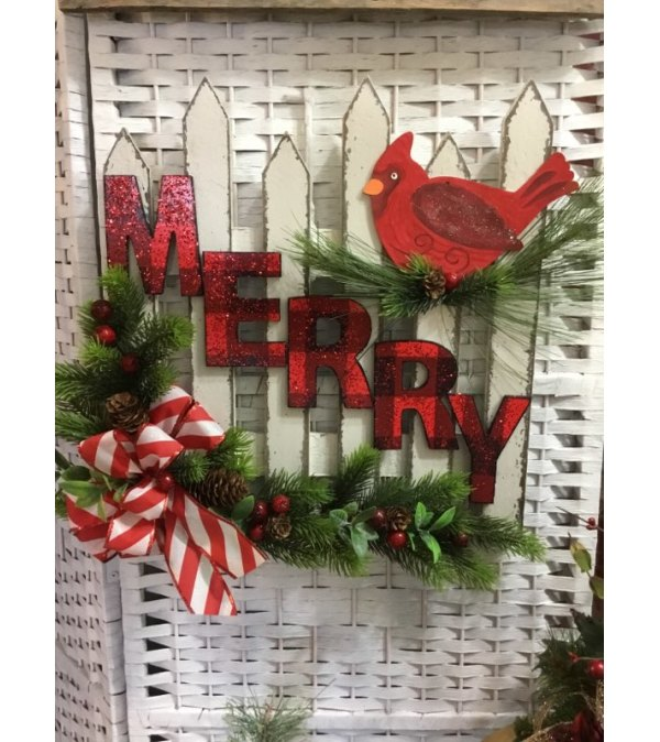 Wooden Merry Fence Sign