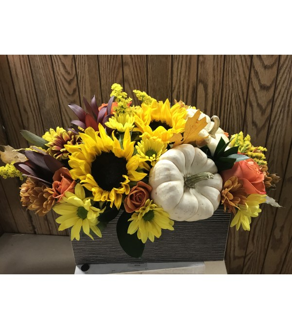 Pumpkin Fall wood centerpiece