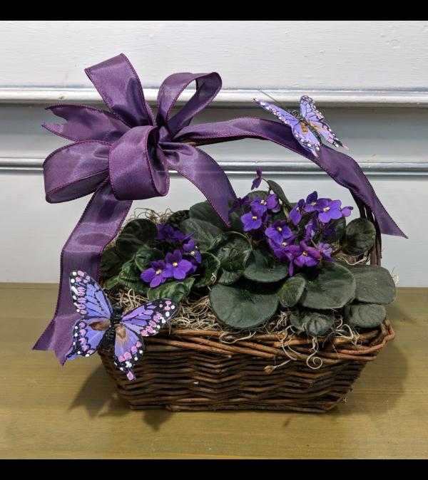 Pretty Purple Violet Basket
