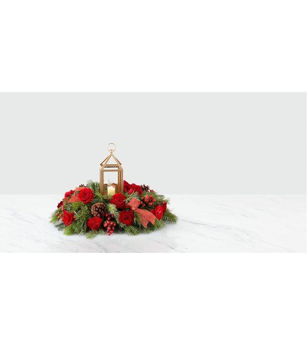 Home for Christmas Lantern Centerpiece