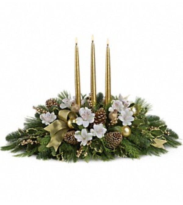 Teleflora's Royal Christmas Centerpiece
