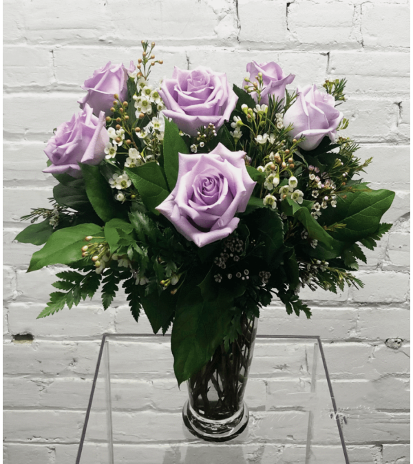 Lavender Roses-1/2 Dozen