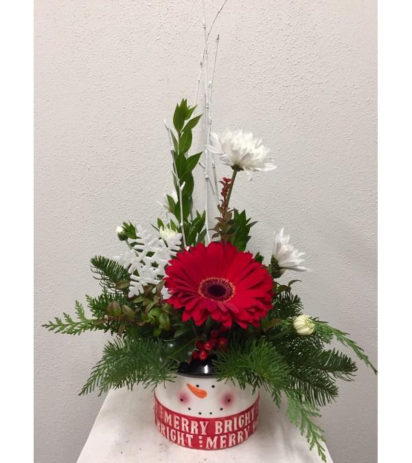 Merry & Bright Snowman Bouquet