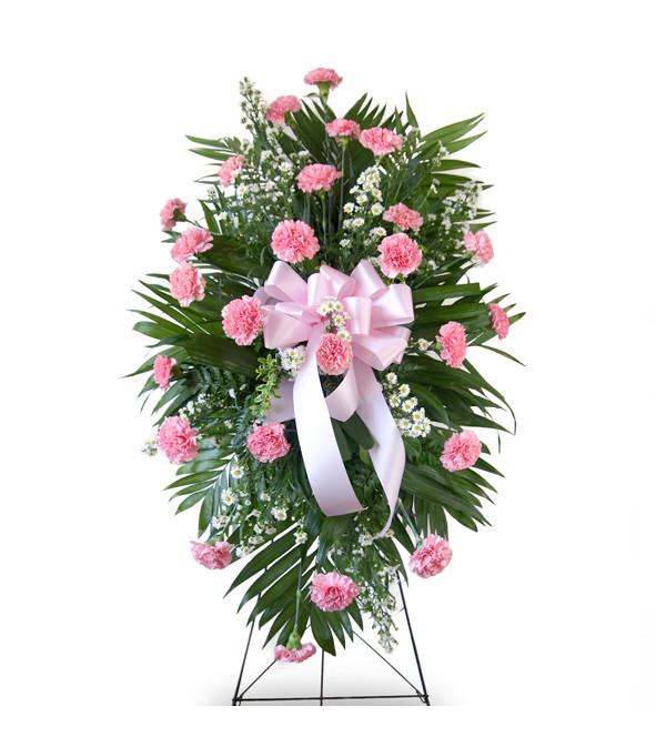Carnation Standing Spray-Pink