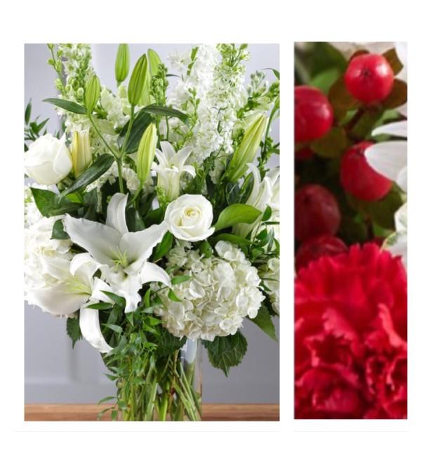 Red Mix-Large Vase Arrangement