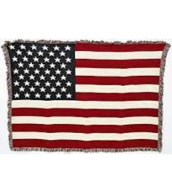 American Flag Tapestry Throw
