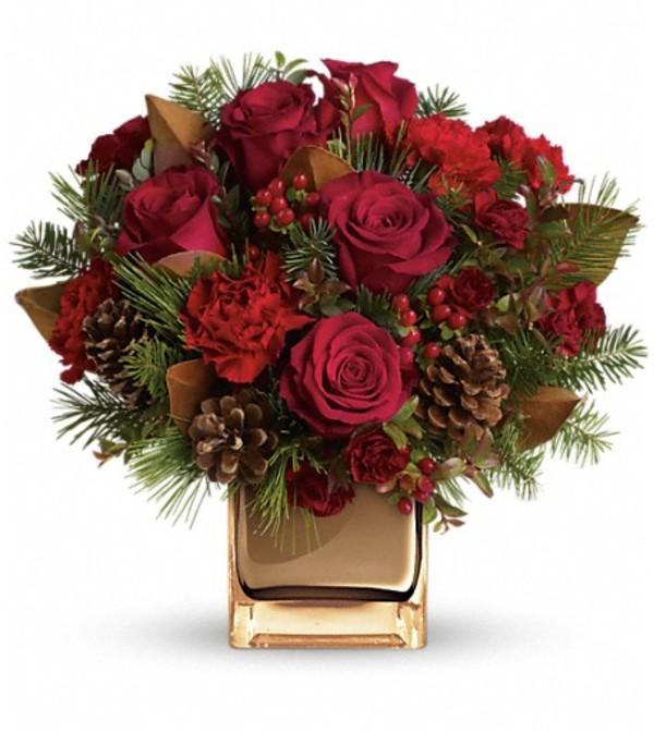 Warm Tidings Bouquet by Teleflora