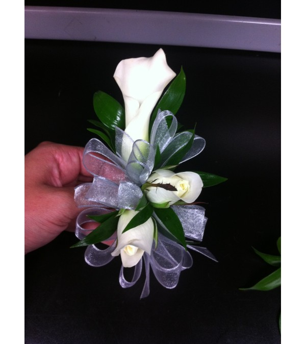 Calla Lily and Rose Corsage