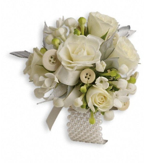All Buttoned Up Corsage
