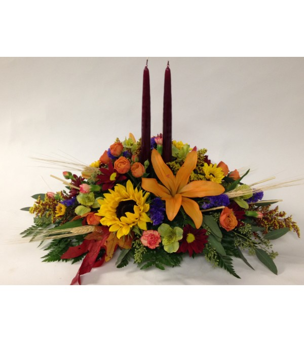 Colorful Classic Autumn Centerpiece