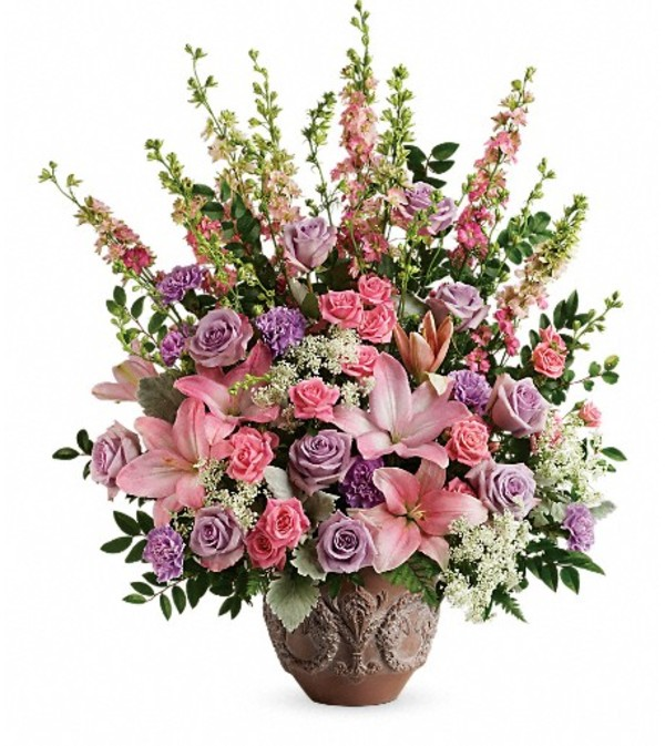 Teleflora's Soft Blush Bouquet