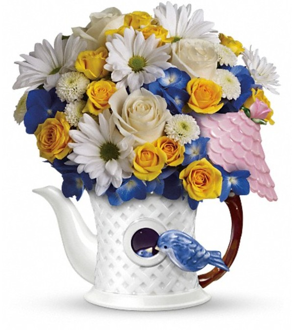Teleflora's Peek-a-Bird Bouquet