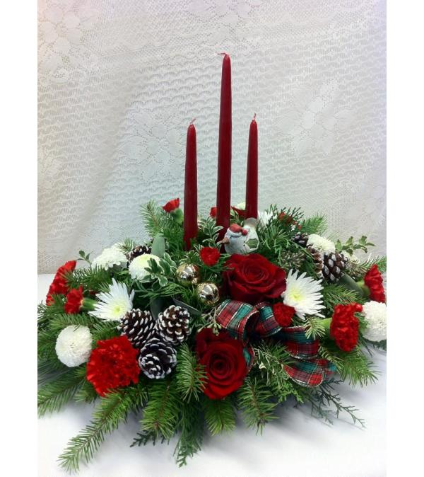 elegant 3 Candle Centerpiece