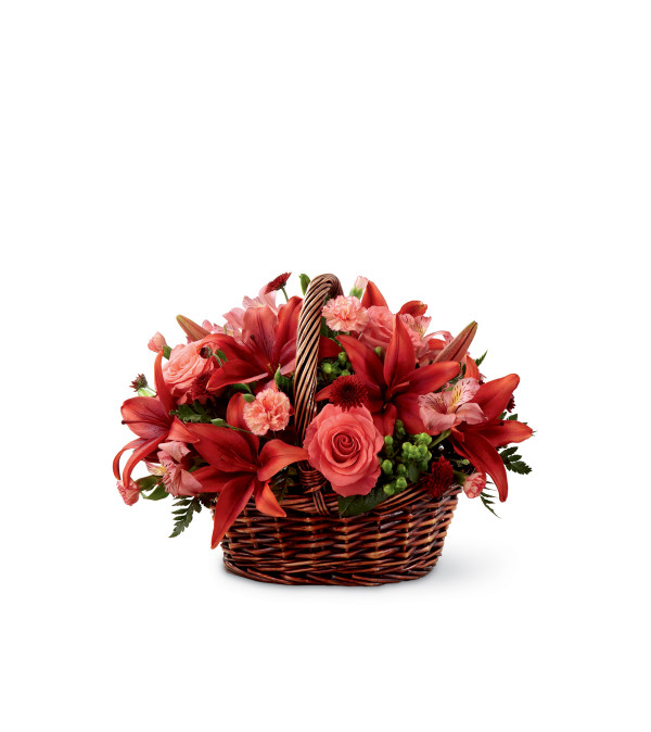 The FTD® Bountiful Garden™ Coral Basket