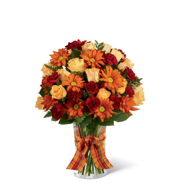 The FTD® Golden Autumn™ Ribbon Bouquet