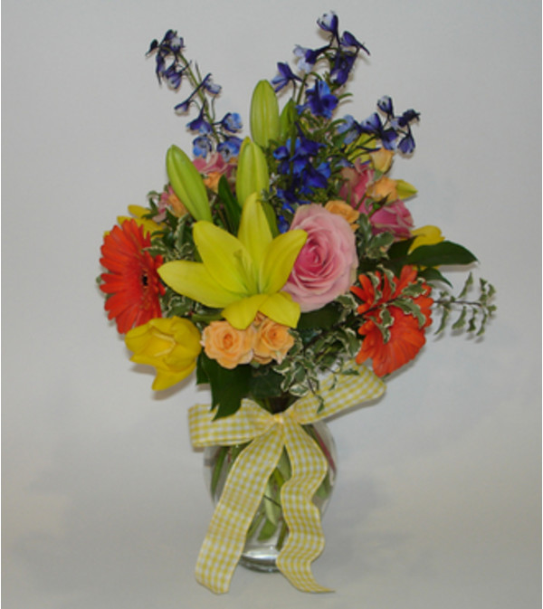 Medium Mixed Spring Garden Vase