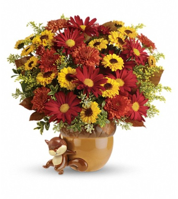 Teleflora's Send a Hug™ Squirrel Away Bouquet