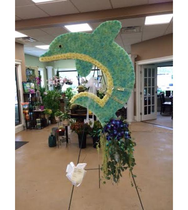 Funeral Custom Dolphin Sympathy Piece