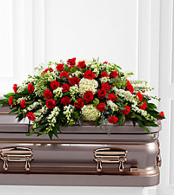 serenity casket spray