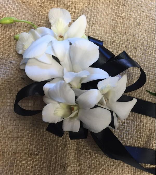 classi white corsage
