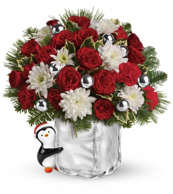 Teleflora's Send a Hug Penguin Bouquet