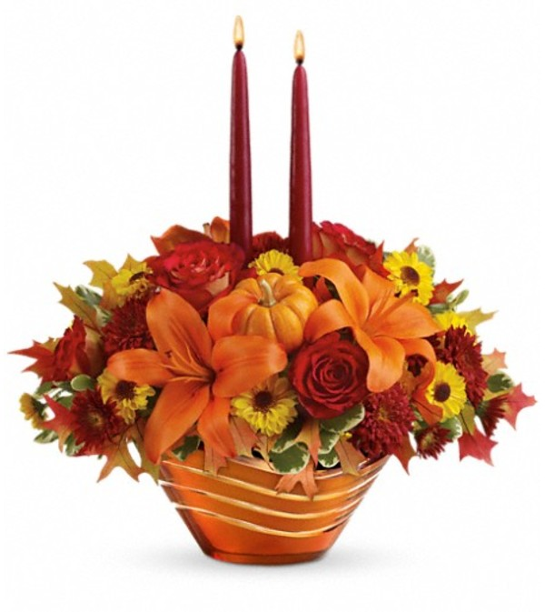 Teleflora's Amber Waves Centerpiece