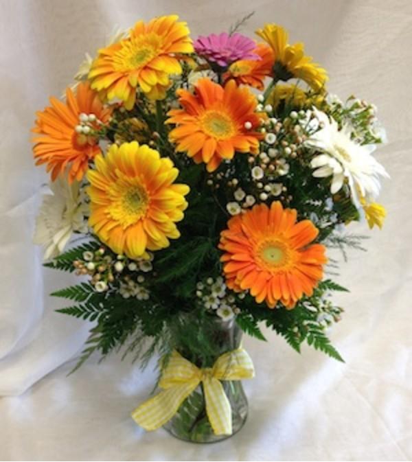 happy gerber daisy bouquet