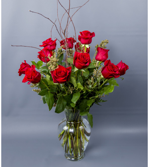 Floral Art's Red Rose Vase