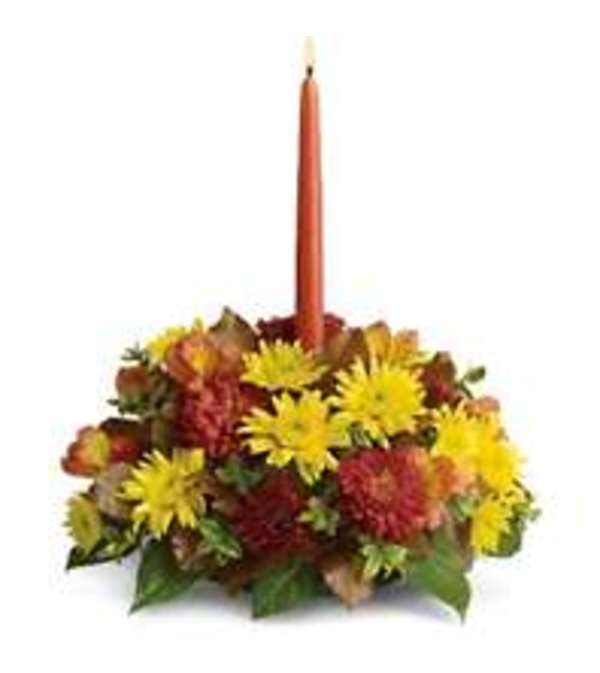1 candle centerpiece