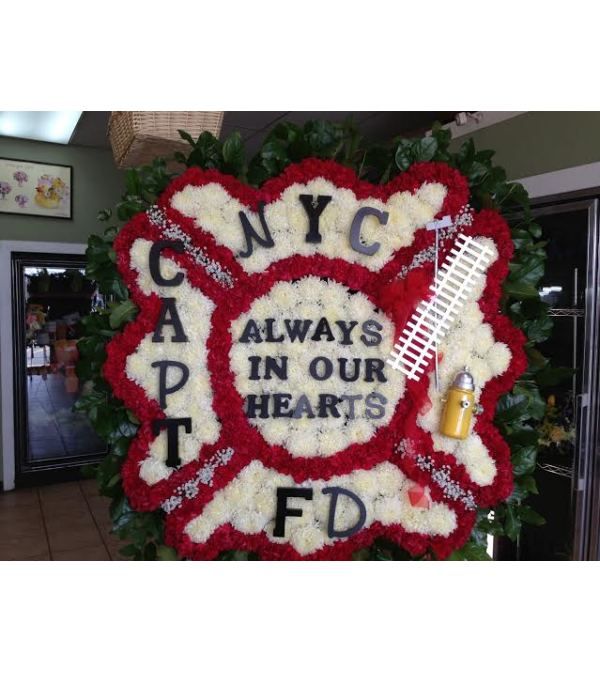 Funeral Custom Fire Dept Shield Sympathy