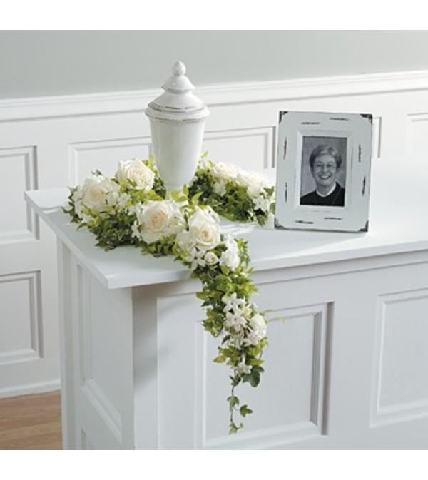 White Floral Garland.