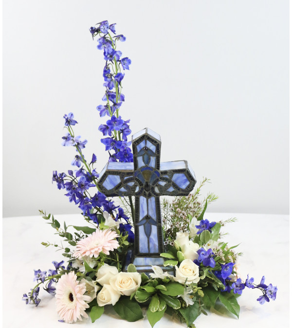 Memory Lamp Blue Cross