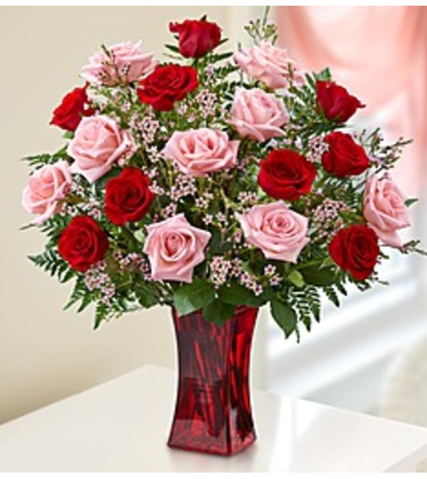 PINK & RED ROSE BOUQUET