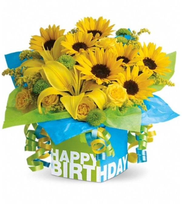 Telefloras Sunny Birthday Present