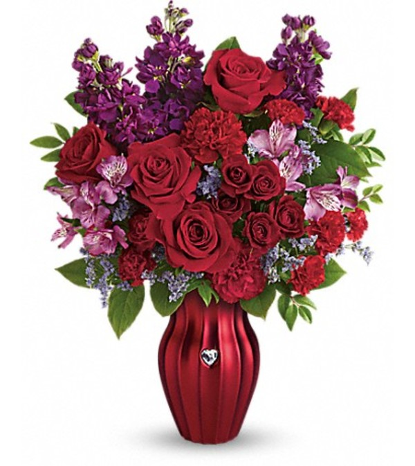 Teleflora's Shining Heart Bouquet
