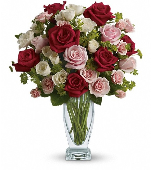 Cupid's Creation with Red Roses by Teleflora