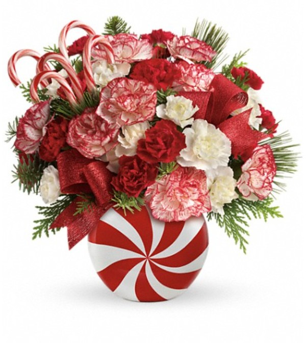 Teleflora Christmas 2019.Teleflora S Peppermint Christmas Bouquet Keller Tx Florist