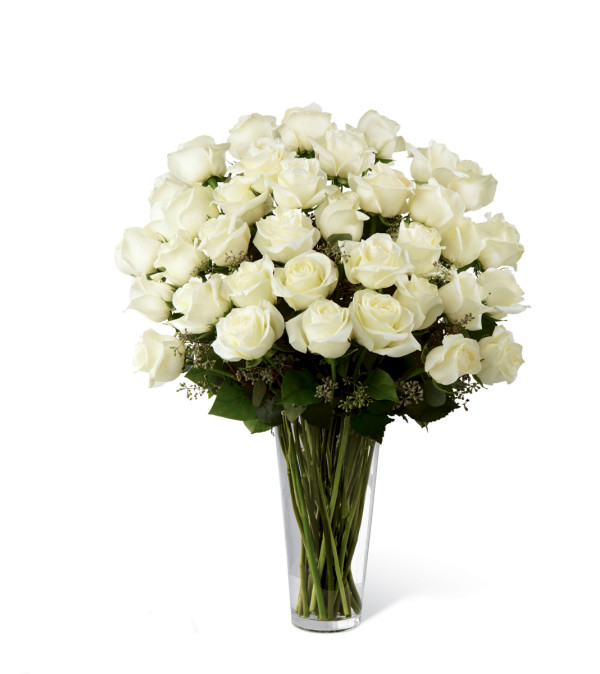 The FTD® White Rose Bouquet - Exquisite