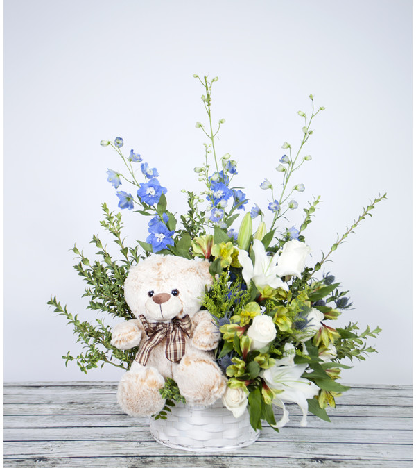 Cuddle Up Bear Arrangement